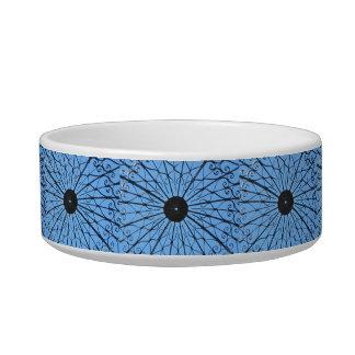 Ironwork on blue sky pet bowls
