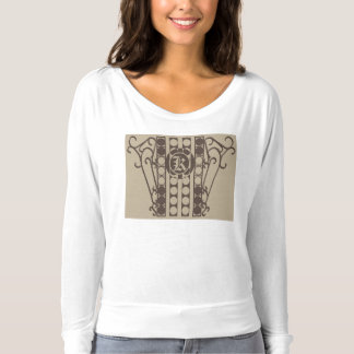 IRONWORK SCROLLWORK 2 T-Shirt with Fitted Long Sle