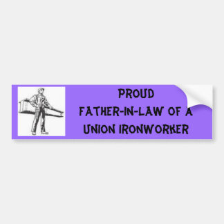 ironworker, Proud Wife of AUnion I... - Customized Bumper Sticker