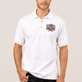 Ironworker Skull 2.1 and Flaming Spud Wrenches Polo Shirt