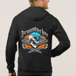 Ironworker Skull and Flaming Crossed Wrenches Sweatshirts