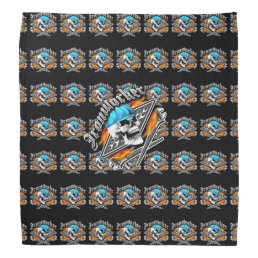 Ironworker Skull and Flaming Wrenches Bandana