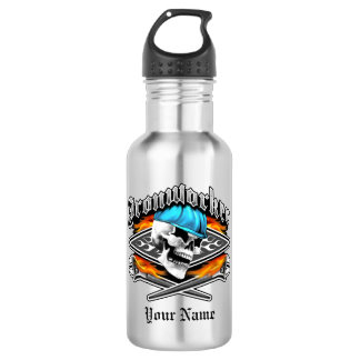 Ironworker Skull and Spud Wrenches Water Bottle