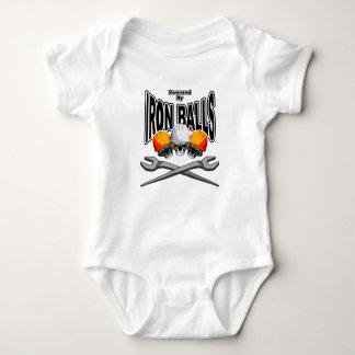 Ironworker Skulls: Iron Balls Baby Bodysuit