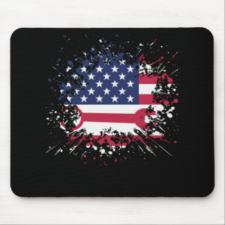 Ironworker Us Flag Mouse Pad