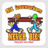 Ironworkers Square Sticker
