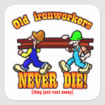 Ironworkers Square Stickers