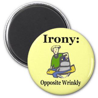 Irony 2 Inch Round Magnet