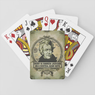 Irony Andrew Jackson Playing Cards