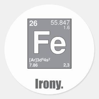 Irony Classic Round Sticker