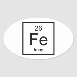 Irony Element Oval Sticker