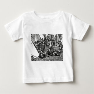 Iroquois Camp Scene in Quebec Baby T-Shirt