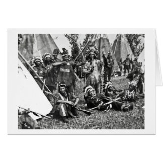 Iroquois Camp Scene in Quebec Greeting Card