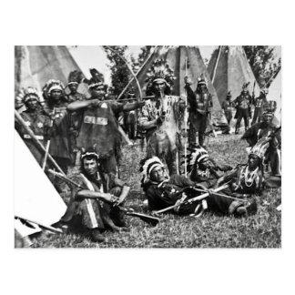 Iroquois Camp Scene in Quebec Postcard