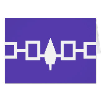 Iroquois Confederacy flag Greeting Card