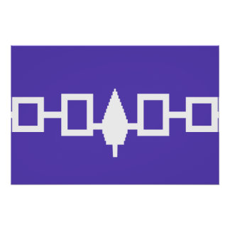 Iroquois Confederacy flag Print