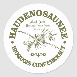 Iroquois Confederacy (Haudenosaunee) Classic Round Sticker