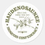 Iroquois Confederacy (Haudenosaunee) Pegatina Redonda