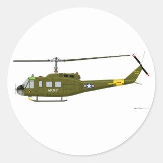 Iroquois de Bell UH-1D Pegatina Redonda