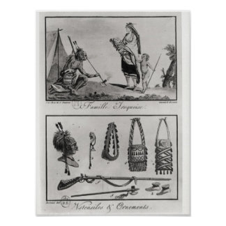 Iroquois family, arms and ornaments poster