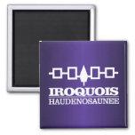 Iroquois (Haudenosaunee) Imán Cuadrado