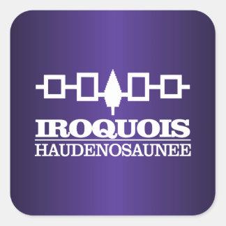 Iroquois (Haudenosaunee) Pegatina Cuadrada