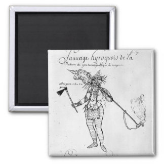Iroquois Indian of Canada 2 Inch Square Magnet