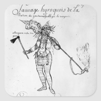 Iroquois Indian of Canada Square Sticker