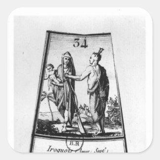 Iroquois Indians Square Sticker