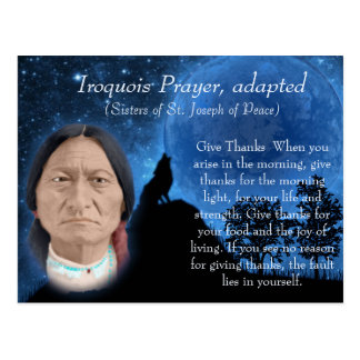 Iroquois Prayer Postcard