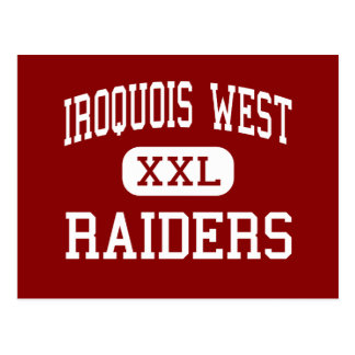 Iroquois West - Raiders - High - Gilman Illinois Postcard