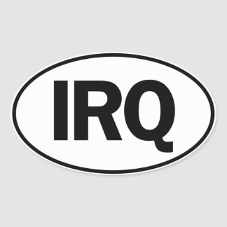 IRQ Oval Identity Sign Oval Sticker