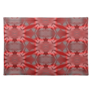 Irradiant in bright red cloth placemat