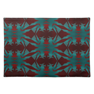 Irradiant in deep red cloth placemat