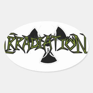 Irradiation Oval Sticker