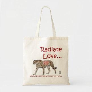 Irradie el amor… bolsa tela barata