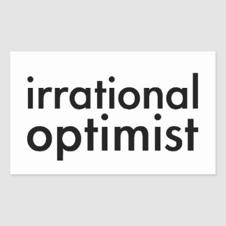 Irrational Optimist Rectangular Sticker