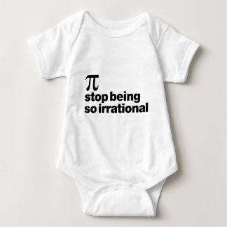 Irrational Pi Baby Bodysuit