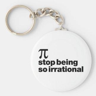 Irrational Pi Basic Round Button Keychain