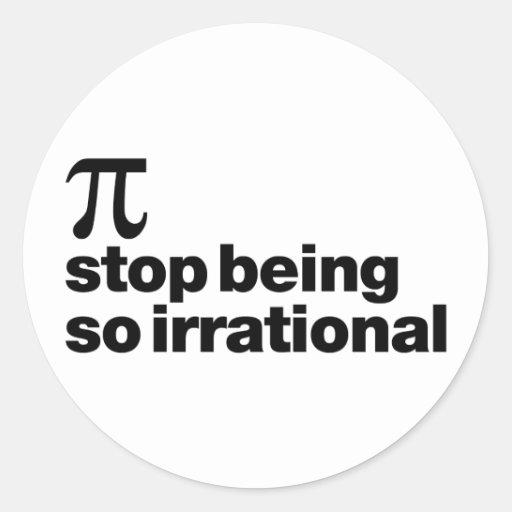 Irrational Pi Classic Round Sticker