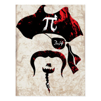 Irrational Pi Day Pirate Postcard