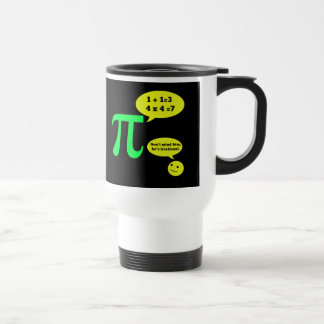 Irrational Pi Humor Travel Mug