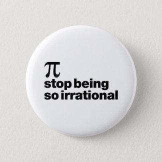 Irrational Pi Pinback Button