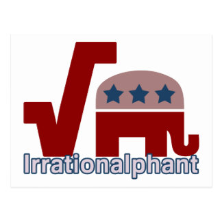 Irrationalphant Postcard