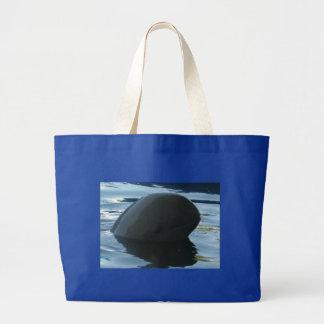 Irrawaddy Dolphin Peek-A-Boo Tote Bags