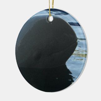 Irrawaddy Dolphin Peek-A-Boo Ceramic Ornament