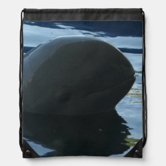 Irrawaddy Dolphin Peek-A-Boo Drawstring Bag