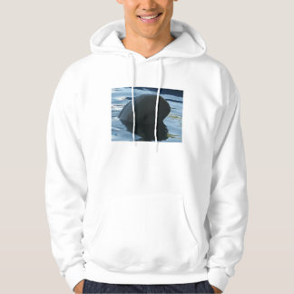 Irrawaddy Dolphin Peek-A-Boo Hooded Pullovers