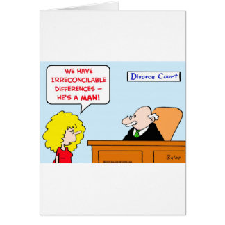 irreconcilable differences divorce card
