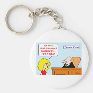 irreconcilable differences divorce keychain